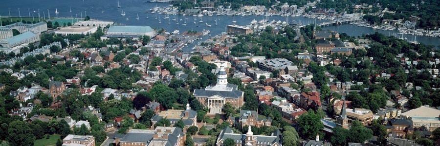 Aerial view of Annapolis, Maryland