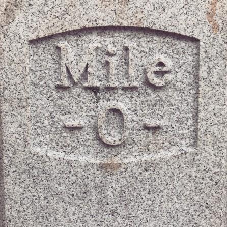 Mile 0 in Georgetown