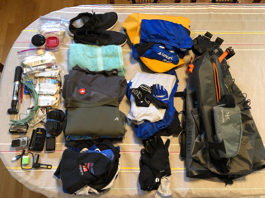 All the gear I packed.