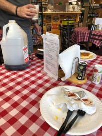 Breakfast. Charles was wondering if there was enough syrup...