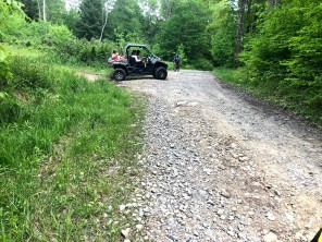 ATVs abound on the way over Cheat Mountain.